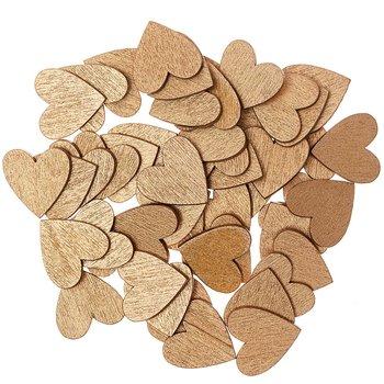 Elementy dekoracyjne, drewniane serca, 24 sztuki-Ohhh! Lovely!