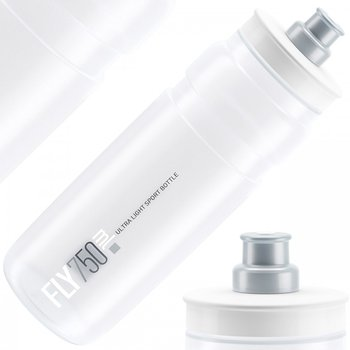 Elite, Bidon, Fly Clear transparent BPA free, biały, 750ml - Elite