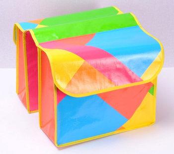 Emako, Torba na rower, Neon, podwójna, 14x30x37 cm-Emako