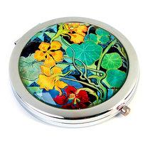 Empik Art, Wyspiański, Lusterko kieszonkowe, Nasturcje, okrągłe, 7x7 cm