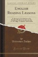 English Reading Lessons-Author Unknown