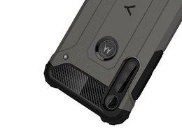 Etui Alogy Hard Armor do Motorola Moto G8 Plus szare + Szkło Alogy