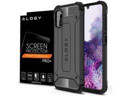 Etui Alogy Hard Armor do Samsung Galaxy A41 szare + Szkło Alogy