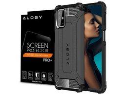 Etui Alogy Hard Armor do Samsung Galaxy M51 szare + Szkło Alogy