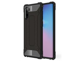 Etui Alogy Hard Armor do Samsung Galaxy Note 10 czarne + Folia Hydrogel Alogy