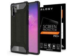 Etui Alogy Hard Armor do Samsung Galaxy Note 10 Plus czarne + Folia Hydrogel Alogy