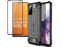 Etui Alogy Hard Armor do Samsung Galaxy S20 FE szare + Szkło Alogy Full