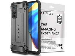 Etui Alogy Hard Armor do Xiaomi Mi 10T/ 10T Pro szare + Szkło