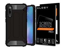 Etui Alogy Hard Armor do Xiaomi Mi 9 Czarne + Szkło Alogy