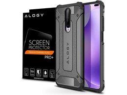 Etui Alogy Hard Armor do Xiaomi Redmi K30/ Poco X2 szare + Szkło Alogy