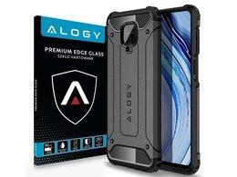 Etui Alogy Hard Armor do Xiaomi Redmi Note 9S/ Pro/ Max szare + Szkło Alogy Full