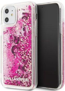 Etui na Apple iPhone 11 KARL LAGERFELD Signature Glitter Case-Karl Lagerfeld