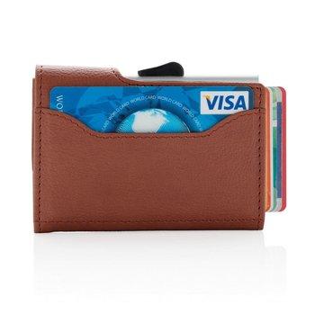 Etui na karty kredytowe i portfel z ochroną RFID C-Secure Brązowe - brązowy-XD COLLECTION