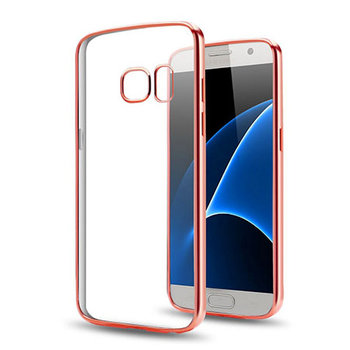 Etui na Samsung Galaxy S7 - silikonowe platynowane SLIM - Różowy.-EtuiStudio