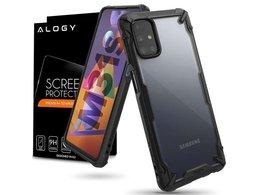 Etui obudowa Ringke Fusion X do Samsung Galaxy M31s Black + Szkło Alogy