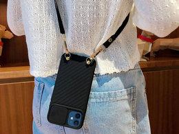 Etui ochronne CrossBody Alogy z paskiem na ramię do iPhone 12 Mini 5.4 Czarne