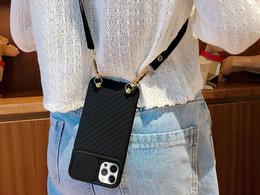 Etui ochronne CrossBody Alogy z paskiem na ramię do iPhone 12 Pro Max Czarne