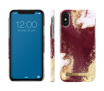 Etui ochronne na Apple iPhone X/Xs IDEAL OF SWEDEN Golden Burgundy Marble - iDeal Of Sweden AB