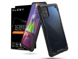 Etui ochronne na telefon Ringke Fusion X do Samsung Galaxy M51 Black + Szkło Alogy