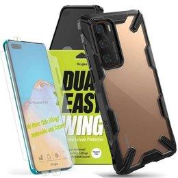 Etui Ringke Fusion X do Huawei P40 Black + 2x Folia Ringke