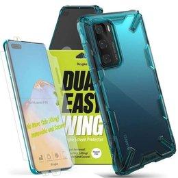 Etui Ringke Fusion X do Huawei P40 Turquoise Green + 2x Folia Ringke