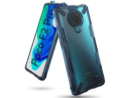 Etui Ringke Fusion X do Pocophone F2 Pro/Redmi K30 Pro Space Blue