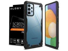 Etui Ringke Fusion X do Samsung Galaxy A52 4G/ 5G Black + Szkło Alogy