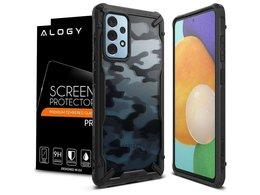 Etui Ringke Fusion X do Samsung Galaxy A52 4G/5G Camo Black + Szkło Alogy