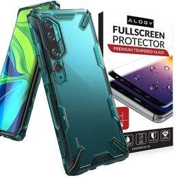 Etui Ringke Fusion X do Xiaomi Mi Note 10/ Note 10 Pro Turquoise Green + Szkło Alogy
