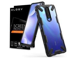 Etui Ringke Fusion X do Xiaomi Redmi K30/ Poco X2 Black + Szkło Alogy