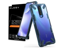 Etui Ringke Fusion X do Xiaomi Redmi K30/ Poco X2 Space Blue + Szkło Alogy