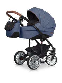 Euro-cart, Delta, Wózek głęboko-spacerowy, Denim-Euro-Cart