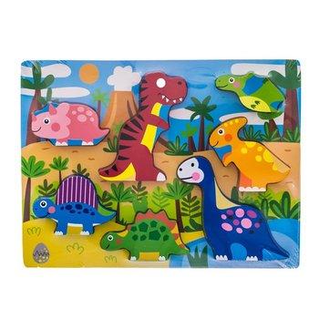 EuroBaby, puzzle drewniane Dino, WTS62901-EuroBaby