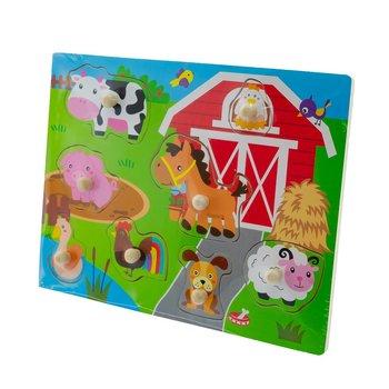 EuroBaby, puzzle drewniane Zwierzęta gospodarskie, 22x30 cm-EuroBaby