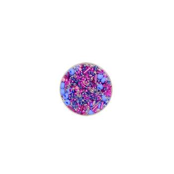 Euroclass, koraliki ozdobne, okrągłe, fuksja i niebieski, 16 g