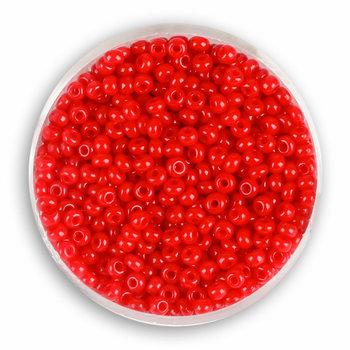Euroclass, koraliki ozdobne, rokoko, czerwone, 2,6 mm, 17 g