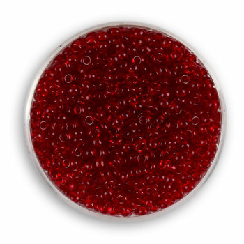 Euroclass, koraliki ozdobne, rokoko, czerwony, 2,6 mm, 17 g