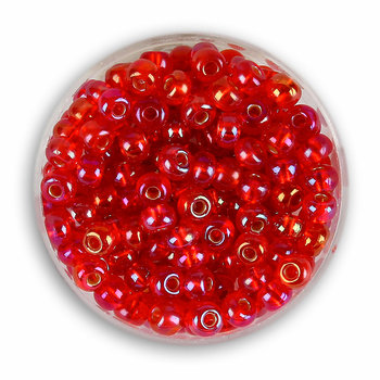 Euroclass, koraliki ozdobne, rokoko, czerwony, 4,5 mm, 16 g