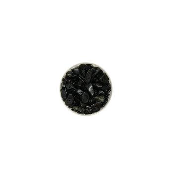 Euroclass, koraliki ozdobne, słupki, czarne, 20 g