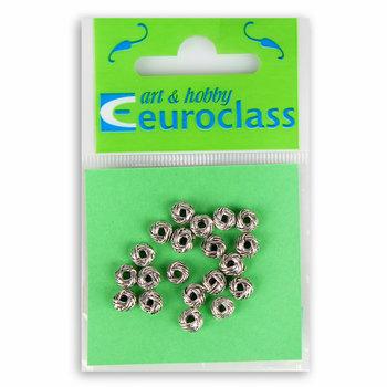 Euroclass, koraliki ozdobne, srebro, 20 sztuk