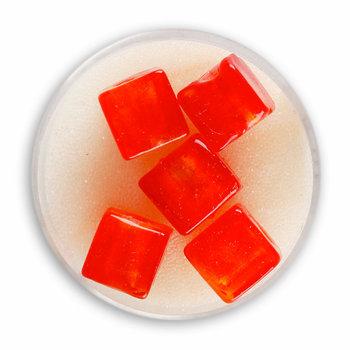 Euroclass, koraliki ozdobne, szklane, czerwone, 5 sztuk