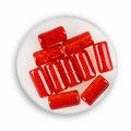 Euroclass, koraliki ozdobne, szklany walec, czerwony, 10 sztuk