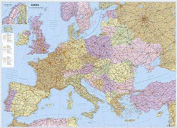 Europa Mapa Drogowo Administracyjna Mapa Scienna 1 3 400 000