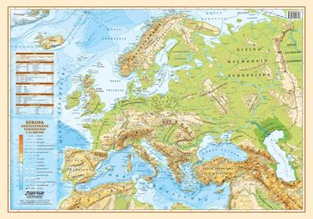 Europa Polityczno Fizyczna Mapa Podkladka Na Biurko Ksiazka W