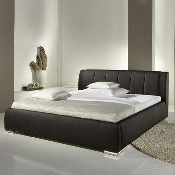 Eva łóżko Tapicerowane Ze Stelażem I Pojemnikiem Na Pościel Brązowe 160x200 Cm