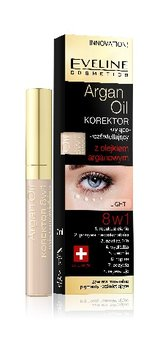 Eveline, Argan Oil, korektor 8w1 Light, 7 ml - Eveline