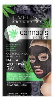 Eveline, Cannabis Skin Care, maska węglowa 3w1, 7 ml-Eveline