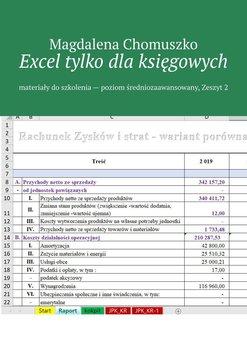 Excel tylko dlaksięgowych. Materiały do szkolenia. Poziom średniozaawansowany. Zeszyt 2-Chomuszko Magdalena