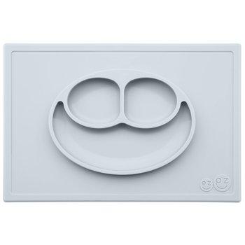 EZPZ, Happy Mat, Silikonowy talerzyk z podkładką 2w1, Pastelowa Szarość-EZPZ