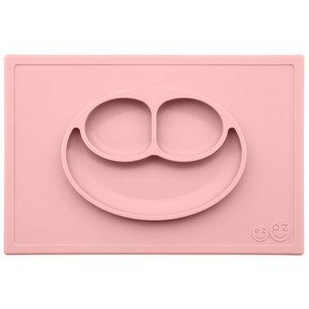 EZPZ, Happy Mat, Silikonowy talerzyk z podkładką 2w1, Pastelowy Róż-EZPZ